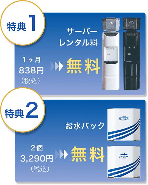 富士の湧水の新規申し込みキャンペーン