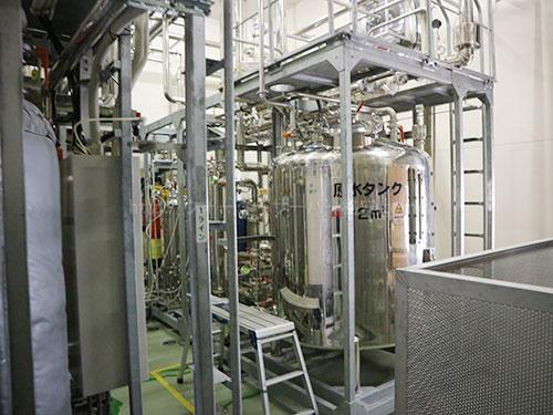 フレシャス富士吉田工場の製水フローの機械