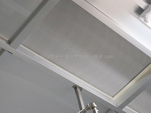 クリーンルーム内の天井フィルター