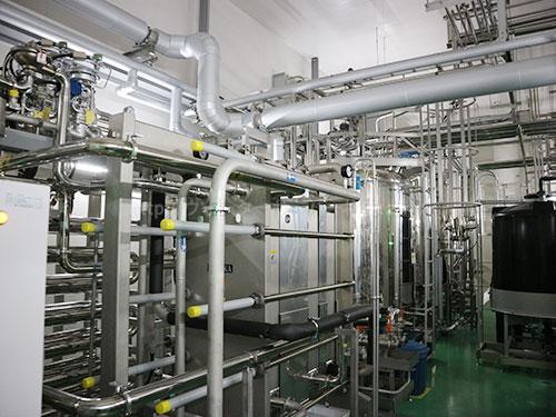 第三工場の整水フローの機械