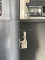 alumichan07さんのアクアクララ「アクアファブ」ブラックの出水レーバー、真横からの写真