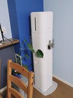 M.Hさんのアクアクララ「アクアファブ」ホワイトのサーバー全体斜めの設置写真