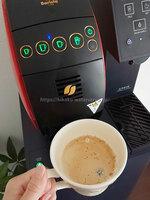 niyuさんアクアクララ「アクアウィズ」のネスカフェ バリスタ一体型、カフェオレを注いだ写真