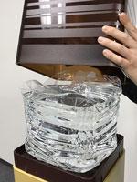 ウィンランドさんプレミアムウォーター「アマダナウォーターサーバー」ブラウンのボトルカバー装着