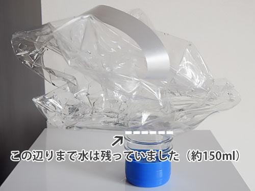 スマートプラス使用済みボトルの中の水の残量