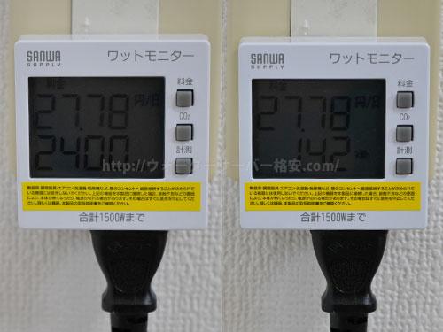 フレシャス サイフォン+の電気代を計測結果