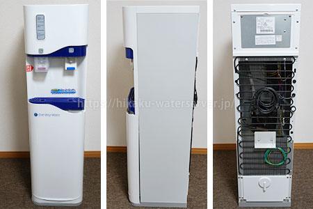 ワンウェイウォーター「Smartサーバー」設置写真(正面、側面、背面)