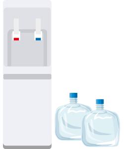 宅配水ウォーターサーバーのイラスト(コスモウォータースマートプラス)