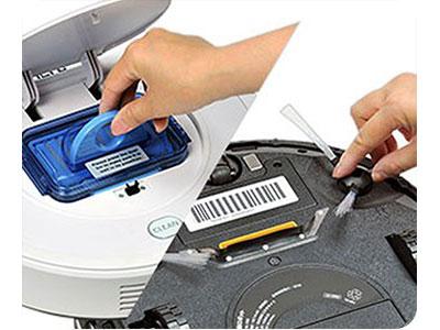 ワンウェイウォーター「スタイリッシュサーバーお掃除ロボットAcro付き」Acro回転ブラシが外せ、ダストボックスも水洗い可能