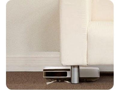 ワンウェイウォーター「スタイリッシュサーバーお掃除ロボットAcro付き」Acro厚み7.5cmの薄型でソファー・ベッド下もお掃除OK