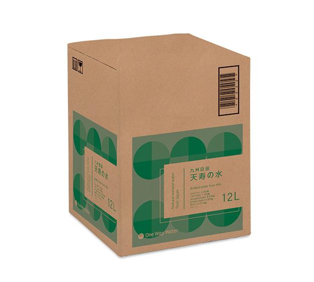 九州日田「天寿の水」の箱