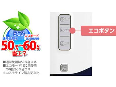 ワンウェイウォーター「Smartサーバー」エコモード使用で電気代50%~60%オフ